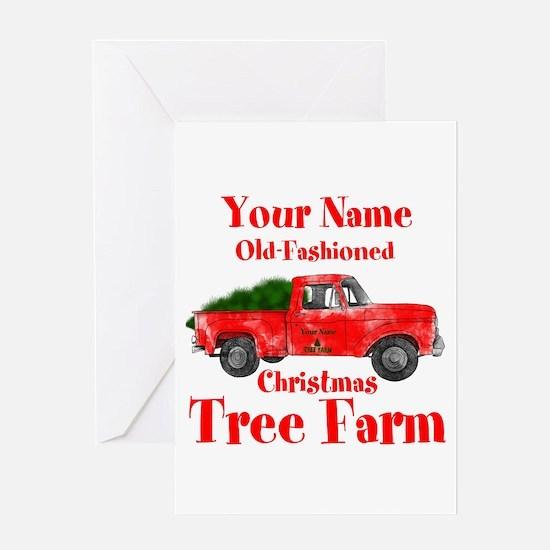 Custom Tree Farm Greeting Card