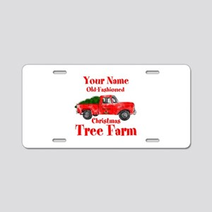 Custom Tree Farm Aluminum License Plate