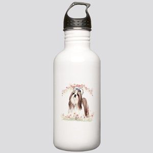 Shih Tzu Flowers Stainless Water Bottle 1.0L