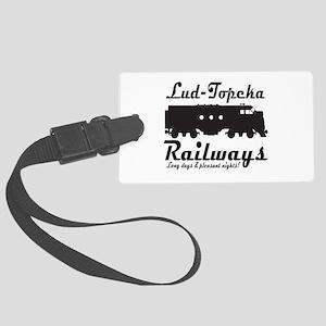 Lud-Topeka Railways Large Luggage Tag