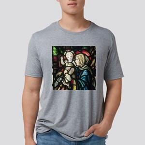 Mary and Baby Jesus SQ Mens Tri-blend T-Shirt