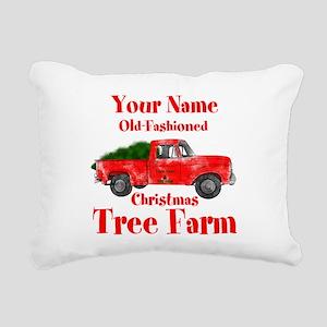 Custom Tree Farm Rectangular Canvas Pillow