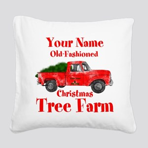Custom Tree Farm Square Canvas Pillow
