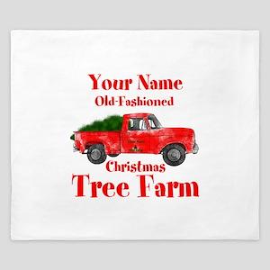 Custom Tree Farm King Duvet