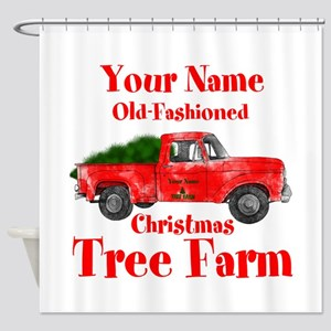Custom Tree Farm Shower Curtain