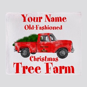 Custom Tree Farm Throw Blanket