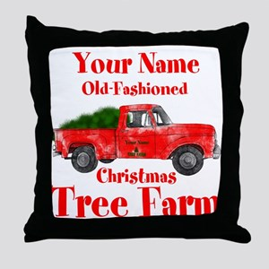 Custom Tree Farm Throw Pillow