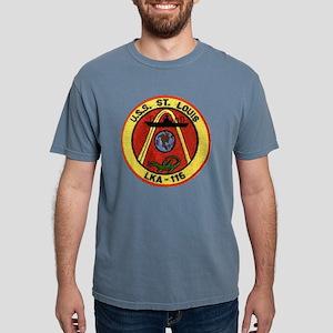uss st louis patch trans Mens Comfort Colors Shirt