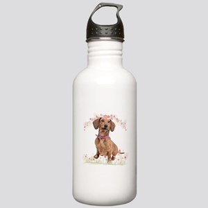 Dachshund Flowers Stainless Water Bottle 1.0L