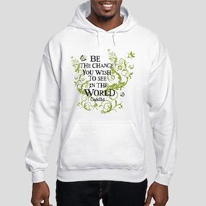 Be the Change - Green - Light Hooded Sweatshirt