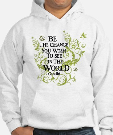 Be the Change - Green - Light Jumper Hoody