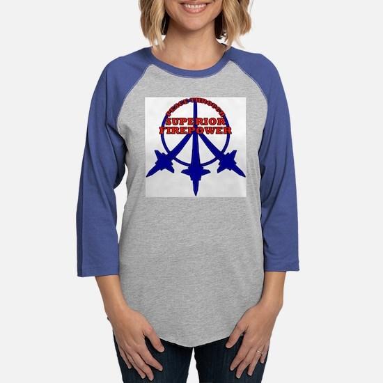 peaceplanes.png Womens Baseball Tee