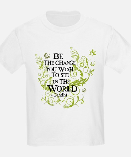 Be the Change - Green - Light T-Shirt
