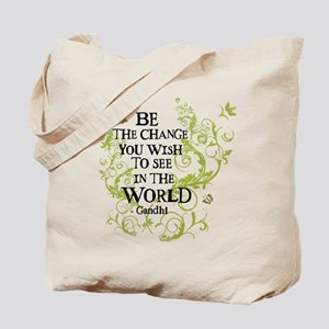 Be the Change - Green - Light Tote Bag