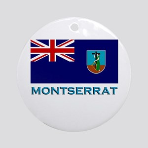 Montserrat Flag Stuff Ornament (Round)