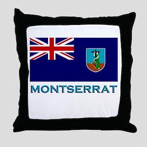 Montserrat Flag Stuff Throw Pillow