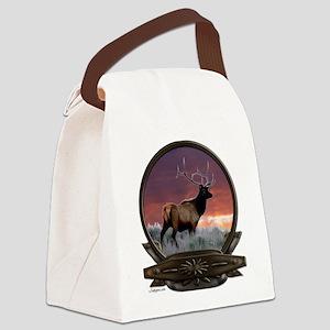 Elk at sunset Canvas Lunch Bag