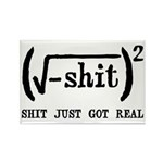 Shit Just Got Real Funny Math Rectangle Magnet