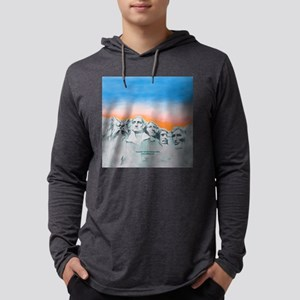 funny cat mount rushmore_square. Mens Hooded Shirt