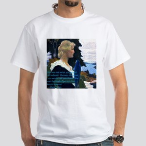 kind of person that keeps a parrot White T-Shirt