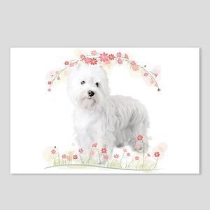 Westie Flowers Postcards (Package of 8)