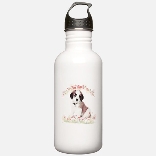 Saint Bernard Flowers Water Bottle