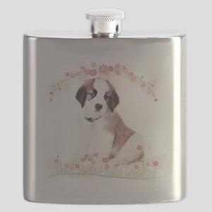 Saint Bernard Flowers Flask