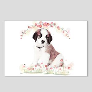 Saint Bernard Flowers Postcards (Package of 8)