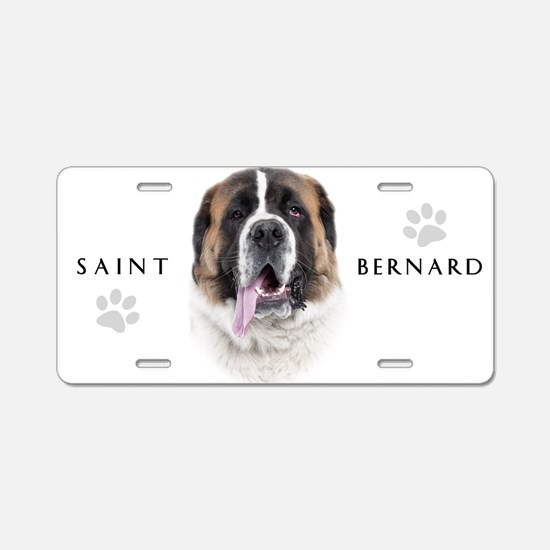 Saint Bernard Aluminum License Plate