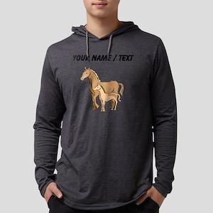 Custom Horse And Foal Mens Hooded Shirt