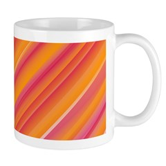 orange pink abstract Mug