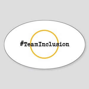#TeamInclusion Sticker (Oval)