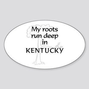 Kentucky Roots Oval Sticker