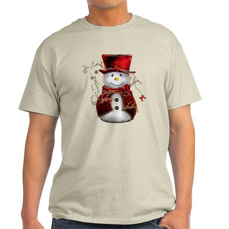 Cute Snowman in Red Velvet Dark T-Shirt
