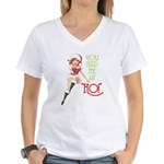 YOU HAD ME AT HO! Women's V-Neck T-Shirt