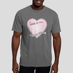 AmericanEskimoloveIsdark Mens Comfort Colors Shirt