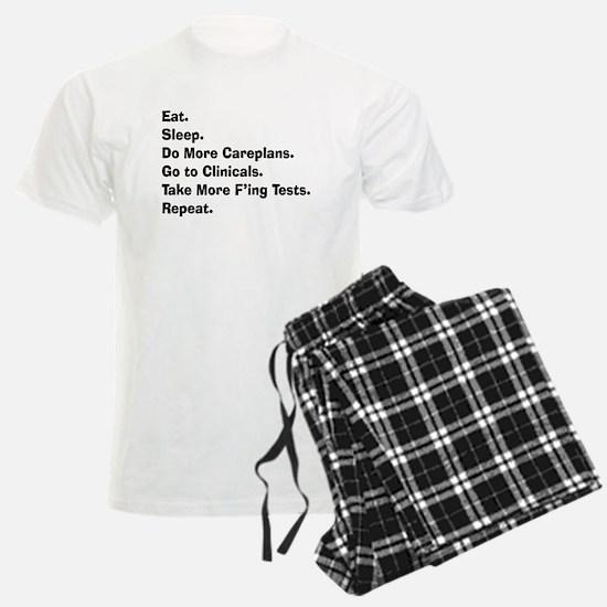 eat sleep student nurse LIGHTS.PNG Pajamas
