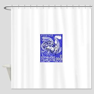 France 1957 Gallic Rooster Postage Stamp Shower Cu