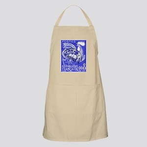 France 1957 Gallic Rooster Postage Stamp Apron