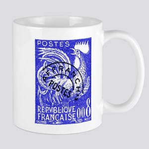 France 1957 Gallic Rooster Postage Stamp Mug