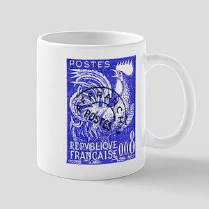 France 1957 Gallic Rooster Postage Stamp Mug