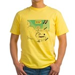 Polar Bears and Reindeer Yellow T-Shirt