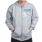 Polar Bears and Reindeer Zip Hoodie