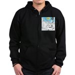 Polar Bears and Reindeer Zip Hoodie (dark)