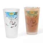 Polar Bears and Reindeer Drinking Glass
