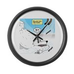 Polar Bears and Reindeer Large Wall Clock