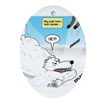 Polar Bears and Reindeer Ornament (Oval)