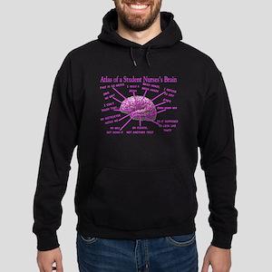 atlas student nurse brain PINK Hoodie (dark)