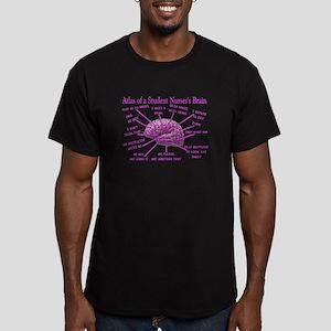 atlas student nurse brain PINK Men's Fitted T-