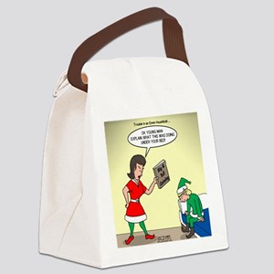 Elf Trouble Canvas Lunch Bag